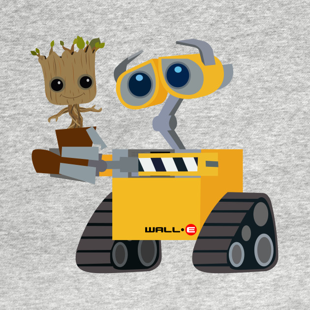 WALL-E and Groot